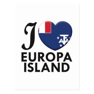 Amor de la isla de Europa Postales