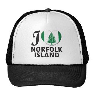 Amor de la isla de Norfolk Gorras De Camionero