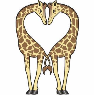Amor de la jirafa adorno fotoescultura