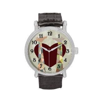 Amor de la jirafa reloj de mano