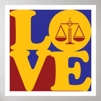 Amor de la justicia penal impresiones