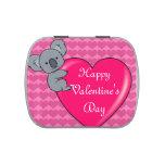 Amor de la koala - el día de San Valentín feliz Latas De Caramelos