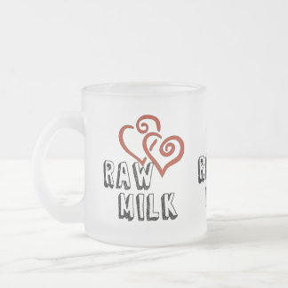 Amor de la leche cruda tazas de café