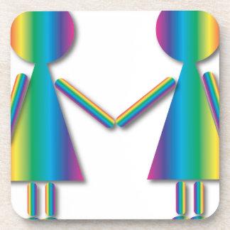 Amor de la lesbiana del arco iris posavasos