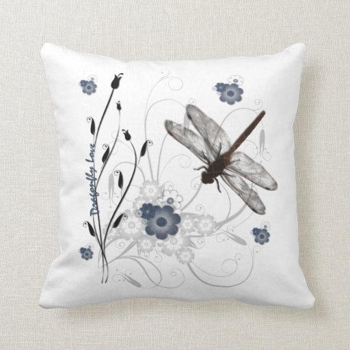 Amor de la libélula cojin
