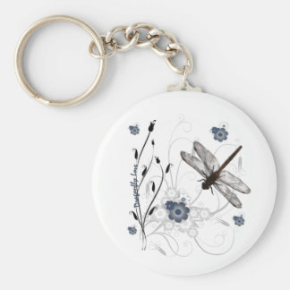 Amor de la libélula llaveros