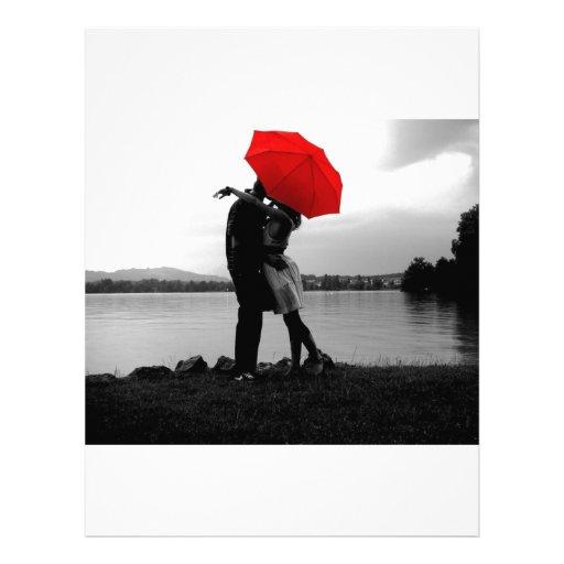 Amor de la lluvia membretes personalizados