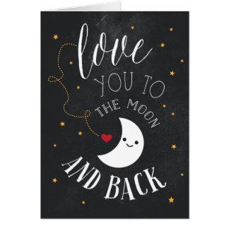 Amor de la luna tarjeta de felicitación