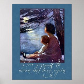 Amor de la madre y del niño impresiones