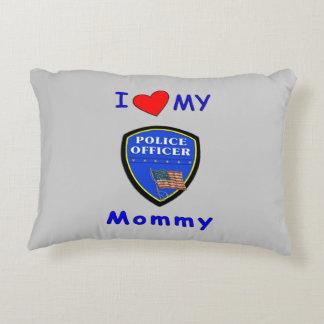 Amor de la mamá de la policía cojín