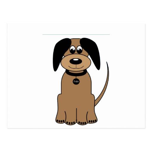amor de la mamá del perro que espera para tarjetas postales