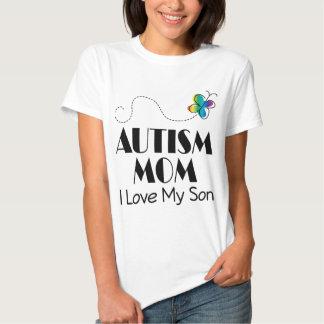 Amor de la mamá I del autismo mi hijo Playeras