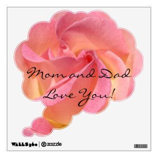 ¡Amor de la mamá y del papá usted! bebé color de Vinilo Adhesivo