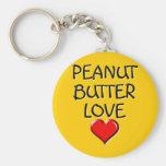 Amor de la mantequilla de cacahuete llaveros personalizados