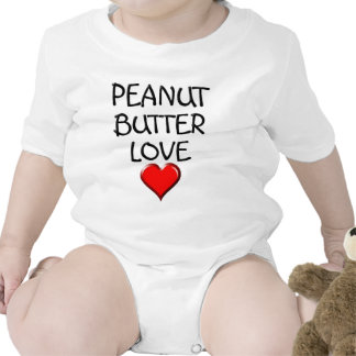 Amor de la mantequilla de cacahuete traje de bebé