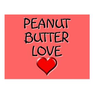 Amor de la mantequilla de cacahuete postal