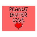 Amor de la mantequilla de cacahuete tarjetas postales