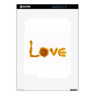 Amor de la margarita iPad 2 calcomanía