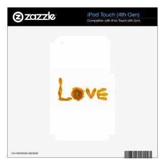 Amor de la margarita iPod touch 4G calcomanía