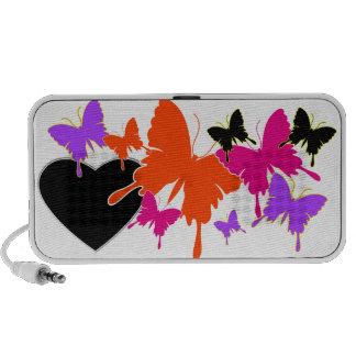 Amor de la mariposa altavoz de viajar