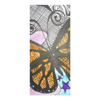 Amor de la mariposa diseño de tarjeta publicitaria