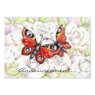 Amor de la mariposa invitacion personal