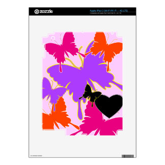 Amor de la mariposa iPad 3 pegatina skin