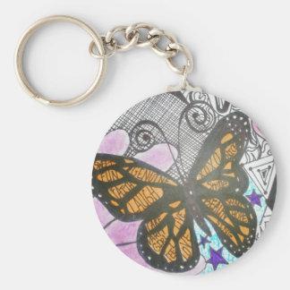 Amor de la mariposa llavero