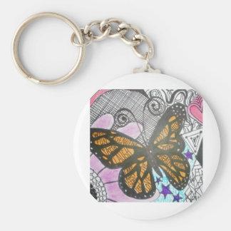 Amor de la mariposa llaveros