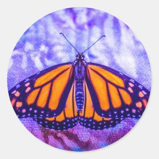 Amor de la mariposa pegatina redonda