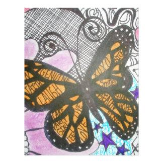 Amor de la mariposa plantilla de membrete