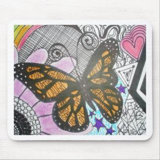 Amor de la mariposa tapete de ratón