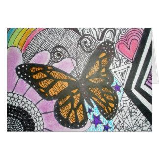 Amor de la mariposa tarjeta
