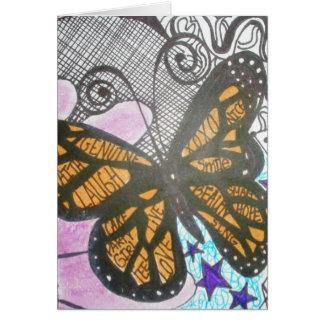 Amor de la mariposa tarjeton