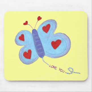 Amor de la mariposa usted tapete de ratones