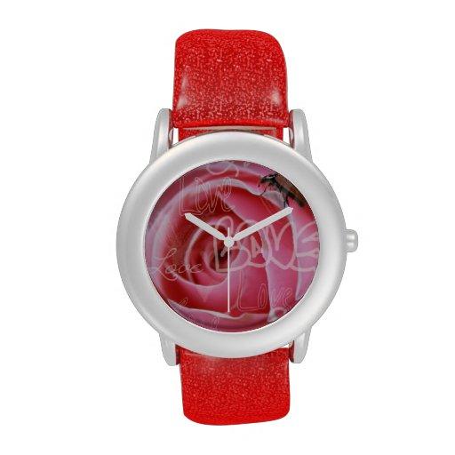 Amor de la mariquita relojes de pulsera
