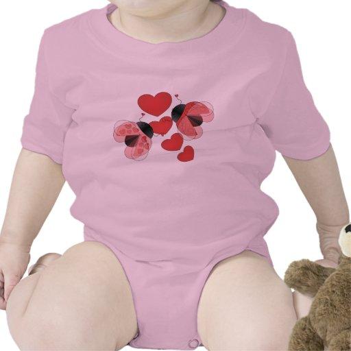 Amor de la mariquita trajes de bebé