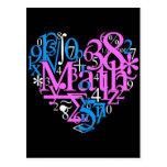 Amor de la matemáticas tarjetas postales