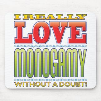 Amor de la monogamia alfombrilla de ratón