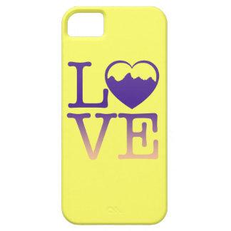 Amor de la montaña funda para iPhone 5 barely there