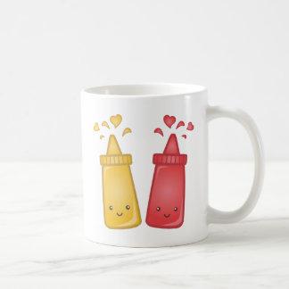 Amor de la mostaza y de la salsa de tomate de Kawa Tazas De Café