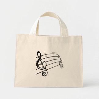 Amor de la música bolsa tela pequeña