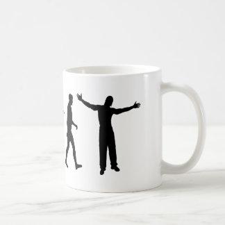 Amor de la música de los músicos del artista de taza de café