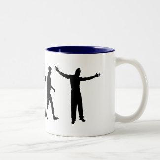Amor de la música de los músicos del artista de taza de café de dos colores