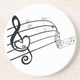 Amor de la música posavasos de arenisca