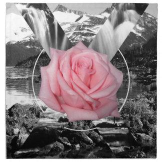 Amor de la naturaleza del rosa de montaña rocosa servilletas