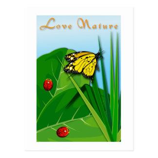 Amor de la naturaleza postales