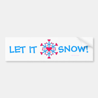 Amor de la nieve - pegatina para el parachoques pegatina para auto
