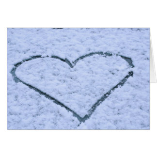 Amor de la nieve tarjeta de felicitación