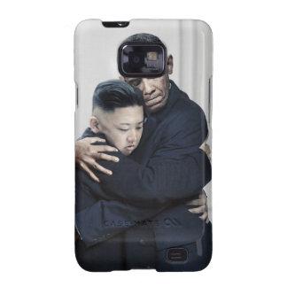 Amor de la O.N.U Corea del Norte de Obama Kim Jong Galaxy S2 Funda